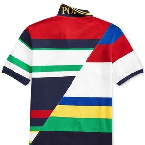 Polo Ralph Lauren Boys Striped Cotton Mesh Polo